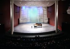 View of scene in concert hall Stock Photo