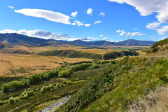 View of scenic Lees Valley in New Zealand. View of scenic Lees Valley in Canterbury, New Zealand Royalty Free Stock Image