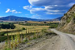 View of scenic Lees Valley in New Zealand. View of scenic Lees Valley in Canterbury, New Zealand Royalty Free Stock Images