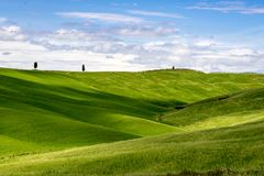 View of the Scenic Tuscan Countryside. In Italy Stock Photography