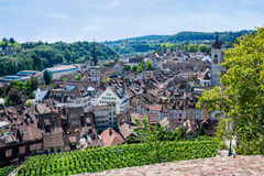 View of Schaffhausen from Munot fortress Royalty Free Stock Photography