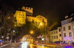 View of Schattenburg castle in Feldkirch Stock Images