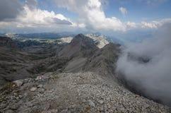 View from Scheichenspitze, Ramsauer ferrata, Austria Royalty Free Stock Photography