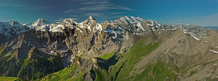 View from the Schilthorn mountain Stock Image