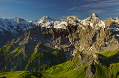 View from the Schilthorn mountain Royalty Free Stock Photography