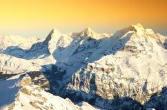 View from Schilthorn, Switzerland Stock Photos
