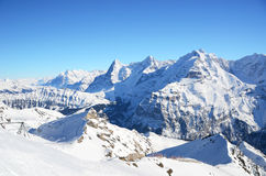 View from Schilthorn, Switzerland Royalty Free Stock Photo