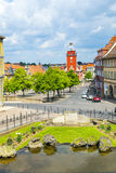 View from Schloss Friedrichstein to the center of Gotha Royalty Free Stock Photo