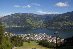 View From Schmittenhöhe To Zell Am See & Lake Zell Stock Photos