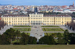 View on Schonbrunn Palace Royalty Free Stock Images