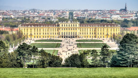View of Schonbrunn Palace, Vienna, Austria Royalty Free Stock Photos