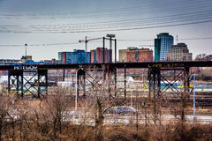 View of the Schuylkill Expressway and West Philadelphia, Pennsyl Royalty Free Stock Photos