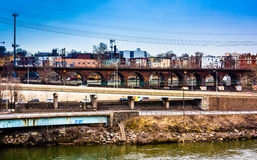View of the Schuylkill River and West Philadelphia, Pennsylvania Stock Image