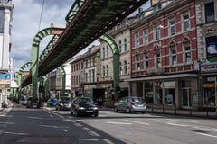 View of the Schwebebahn floating tram Royalty Free Stock Image
