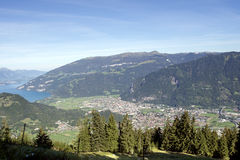 View from the Schynige Platte railway Stock Photography