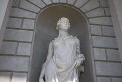 View of Scientia statue in Alessandro Volta Temple. Como, Italy - April 22, 2018: View of Scientia statue in Alessandro Volta Temple Tempio Voltiano Royalty Free Stock Photography