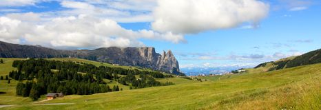 View of the Sciliar, Dolomites, Italy Stock Photo