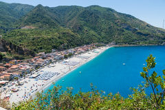 View on Scilla beach in Calabria, Italy Stock Images