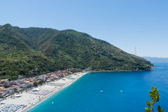 View on Scilla beach in Calabria, Italy Royalty Free Stock Photo