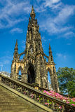 View of Scott Monument in Scotland Stock Images
