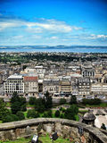 View from Scottish castle in edinburgh, scotland Stock Photography