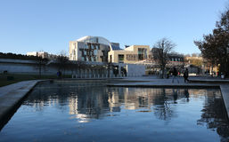 View of Scottish Parliament Royalty Free Stock Photos