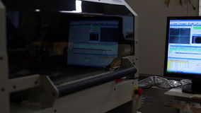 View of screen that displays production process stock video