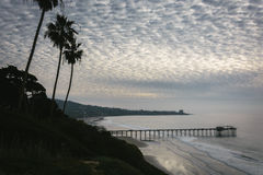 View of Scripps Pier and the Pacific Ocean  Royalty Free Stock Photo