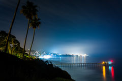 View of Scripps Pier and the Pacific Ocean   Royalty Free Stock Image