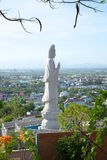 View of the sculpture of the Bodhisattva Avalokitesvara (Goddess of Mercy). Phan Thiet, Vietnam Stock Images