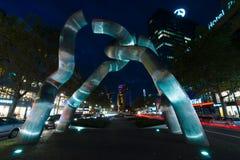 A view of the sculpture. BERLIN, GERMANY - OCTOBER 17, 2014: A view of the sculpture 'Broken chain', by sculptors Brigitte Matschinsky-Denninghoff and Martin Stock Images