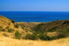 View on the sea. Crimea. Black Sea. Fox Bay (Lissya Bukhta Stock Image