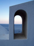 View of the sea through arch Stock Photo