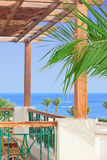 View on sea from balcony Royalty Free Stock Image
