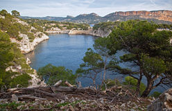 View of the sea and the bay Calanques in Cassis Royalty Free Stock Photo
