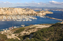 View of the sea and the bay Calanques in Cassis Stock Photo