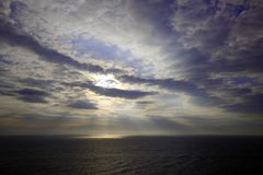 Amazing view on sea and sky. royalty free stock photos