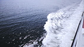 View of the Sea From a Big Boat. High Angle of View of the Sea From a Big Boat Traveling stock video footage