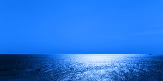View of Sea With Boats Stock Photography