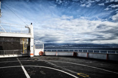 View of the sea from the bow of a ferry boat Stock Photography
