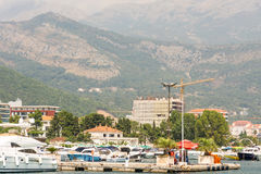 View from the sea Budva, Montenegro Stock Images
