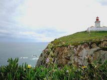 A view of the sea at cape roca, Portugal royalty free stock images