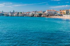 View of the sea in Cascais, Portugal. royalty free stock image