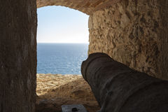 View of the sea from a castle Stock Photos