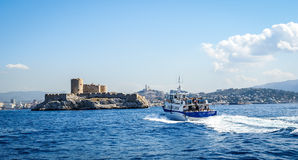 View from the sea on the Castle Eve Stock Photography