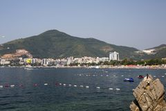 View of the sea coast of the city Royalty Free Stock Images