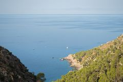 View of the sea, coast of Mallorca Royalty Free Stock Photography