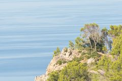 View of the sea, coast of Mallorca Stock Photos