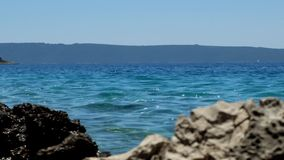 View of the sea stock footage