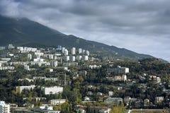 View of the sea coast of Yalta Stock Image